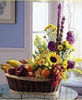 Simply Fruit & Flowers Basket